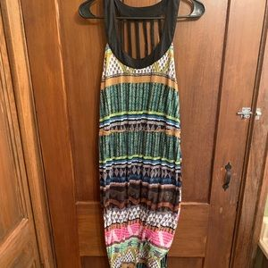 Patterned maxi dress large